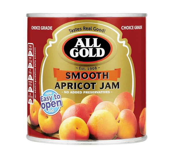 a can of All Gold Smooth Apricot Jam 450g