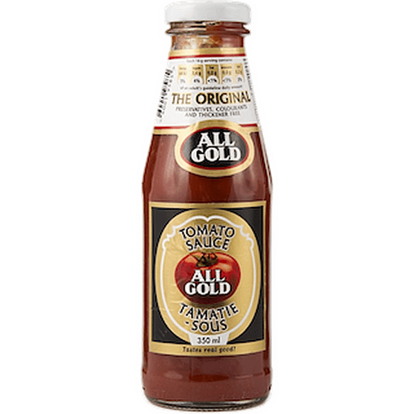 a bottle of All Gold Tomato Sauce 350ml